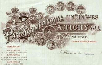 dopisní papír Parostrojní pivovar